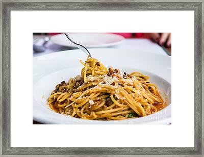 Spaghetti Noodles Framed Print by Tosporn Preede