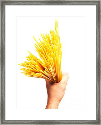 Spaghetti Framed Print by Sinisa Botas
