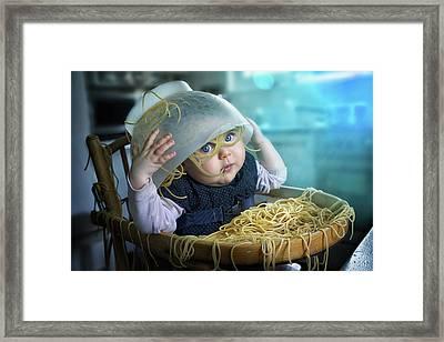 Spaghettitime Framed Print