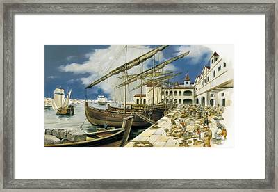 Spain, 16th - 17th C. Overseas Trade Framed Print by Everett