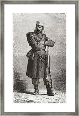 Spain 19th C.. Spanish Soldier Framed Print by Everett