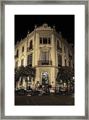 Spain At Night Framed Print by Mary Machare
