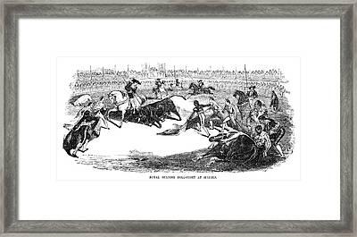 Spain Bullfighting, 1856 Framed Print