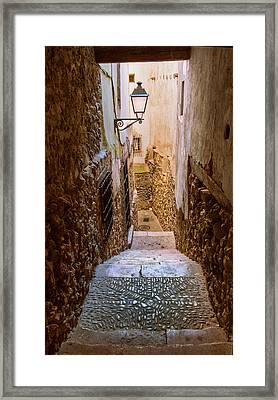 Spain, Cuenca Alley Framed Print by John Ford