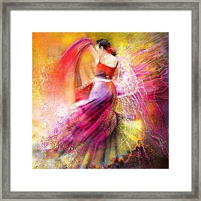 Spain - Flamencoscape 12 Framed Print