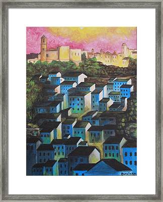 Little Town Of Spain Framed Print