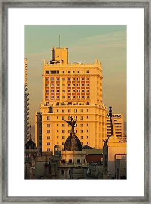 Spain, Madrid, Centro Area, Elevated Framed Print
