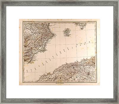 Spain Madrid Gotha Justus Perthes 1872 Atlas Framed Print