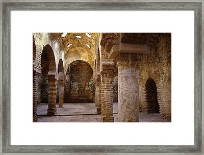 Spain. Ronda. Moorish Baths 13th-14th Framed Print by Everett