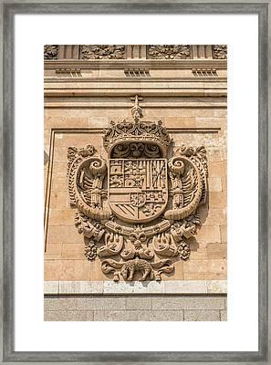 Spain, Salamanca, Relief Sculpture Framed Print