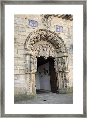 Spain. Santiago De Compostela. Colexio Framed Print by Everett