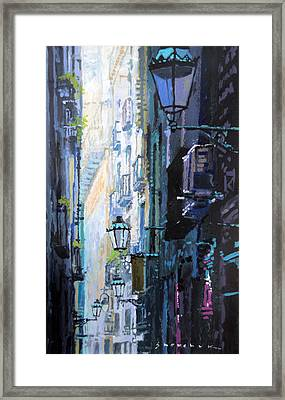 Spain Series 06 Barcelona Framed Print by Yuriy Shevchuk