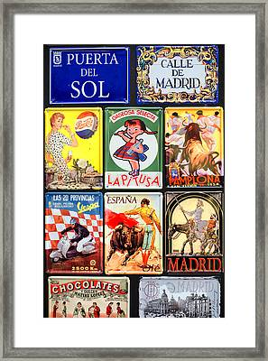 Spain Was Like This Once Framed Print