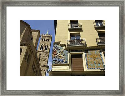 Spain. Zaragoza. Church Of San Gil - � Framed Print by Everett
