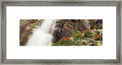Spalding Falls Grand Teton National Framed Print