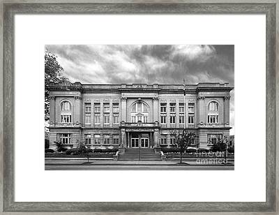 Spalding University Center Framed Print by University Icons