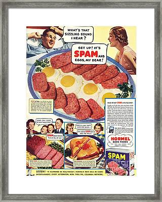 Spam 1960s Usa Hormel Meat Tinned Framed Print by The Advertising Archives