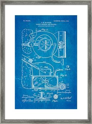 Spangler Carpet Cleaner Patent Art 1908 Blueprint Framed Print by Ian Monk
