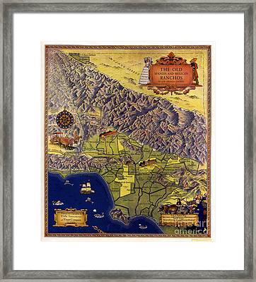 Spanish And Mexico Ranchos Framed Print by Pg Reproductions