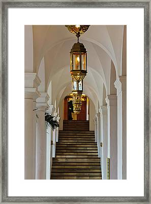 Spanish Architectural Details, Long Framed Print by Keren Su