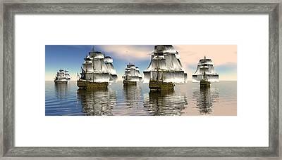 Spanish Armada Framed Print by Claude McCoy
