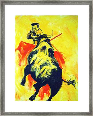 Spanish Bullfight Framed Print