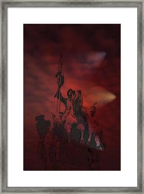 Framed Print featuring the digital art Spanish Cavalry by Angel Jesus De la Fuente
