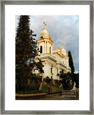 Spanish Church  Framed Print by Elaine Manley