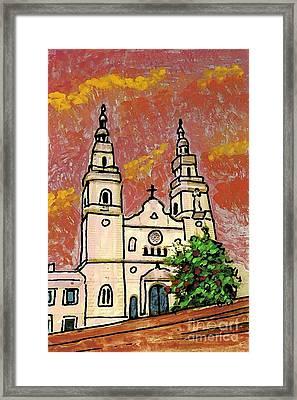 Spanish Church Framed Print by Sarah Loft