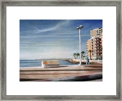 Spanish Coast Framed Print