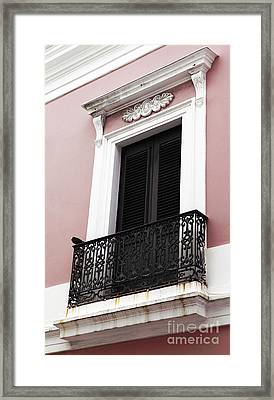 Spanish Colonialism Architecture Framed Print by John Rizzuto