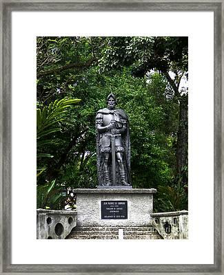 Spanish Conquistador Vasquez De Coronado Framed Print by Al Bourassa