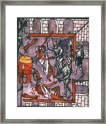 Spanish Cruelty, 1520 Framed Print