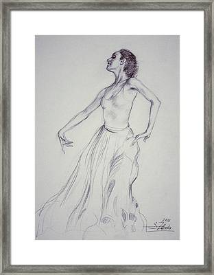 Spanish Dancing Framed Print