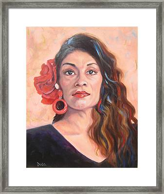 Spanish Eyes Framed Print by Susan Duda