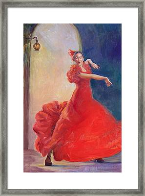 Spanish Flame Framed Print by Gwen Carroll