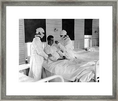 Spanish Flu Nursing Ward Framed Print by Us Navy