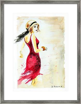 Spanish Girl Framed Print by Anna Androsovski