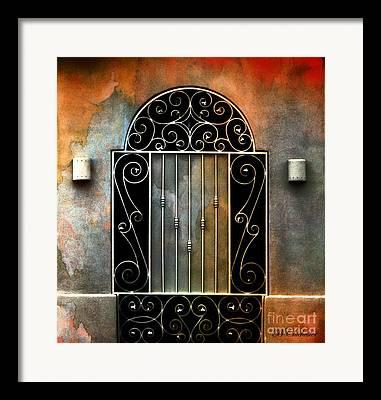Southwest Gate Andscape Framed Prints