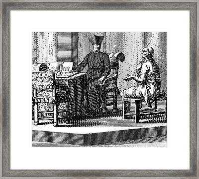Spanish Inquisition, Interrogation Framed Print