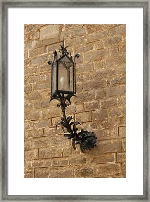 Spanish Lamp Framed Print by Kathy Schumann