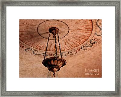 Framed Print featuring the photograph Spanish Lamp by Lawrence Burry