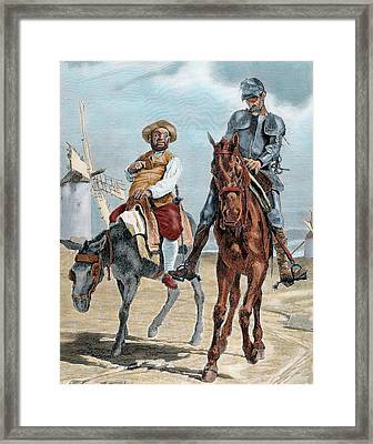 Spanish Literature Framed Print by Prisma Archivo