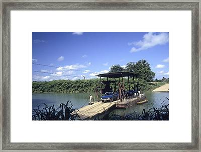 Spanish Lookout Ferry Belize Framed Print
