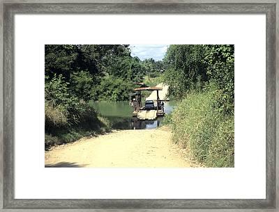 Spanish Lookout Frry Belize Framed Print