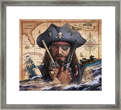 Spanish Main Pirate Framed Print by Steve Read