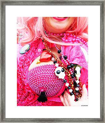 Spanish  Mardi Gras Parade Finery Louisiana Framed Print