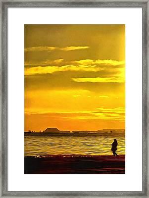 Spanish Marine Sunset Framed Print