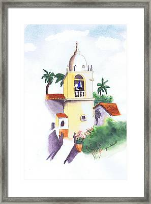 Framed Print featuring the painting Spanish Mission by June Holwell