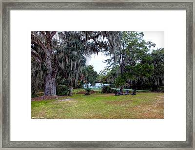Spanish Moss Draped Oaks Of Charleston Framed Print by Maurice Smith